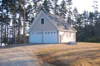Garage Complete- We built a custom storage building for the next door neighbor as well
