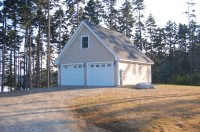 Custom Garage / Temporary Cottage until the Main House is Built / Photo taken right after construction
