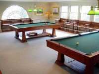 Camden, ME Residential Billiard Room Addition, Custom Built Benches