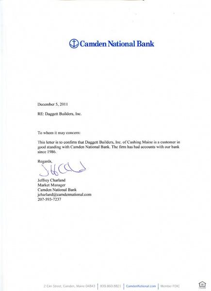 CamdenNationalBank2011jpg – Bank Reference Letter