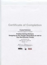 Problem Solving Kitchens Certificate