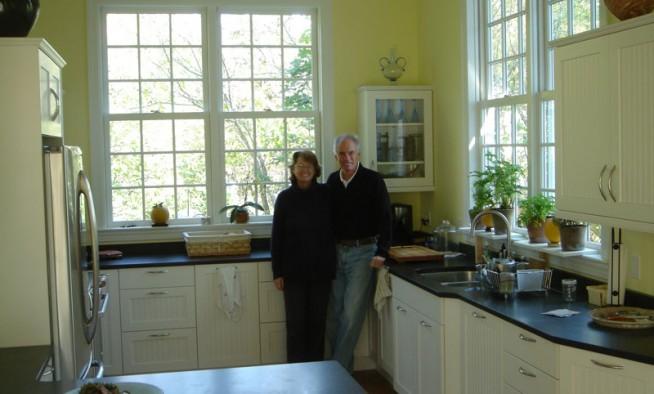 Owners enjoying their new kitchen