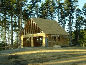 Garage Under Construction - The House Will Come Later