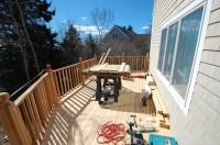 Deck off of the kitchen