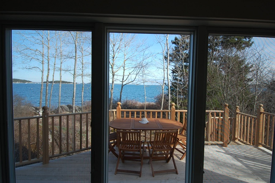 This was the original deck off of the kitchen but the view is just as spectacular. The new deck is smaller but there are two more decks than before; each with a view.
