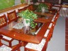 Made to order glass top table and chairs