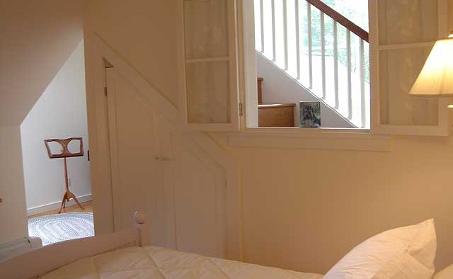 Guest room stairs cupola