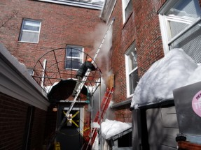 Steaming Away a 30' Tall Icicle