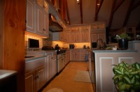Custom Painted Kitchen Cabinets by Daggett Builders