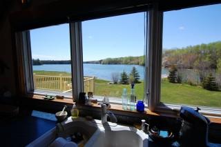 Kitchen Window View, Rental Property Cushing, ME