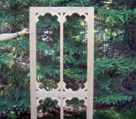 Custom Screen Door Built in Daggett's Shop