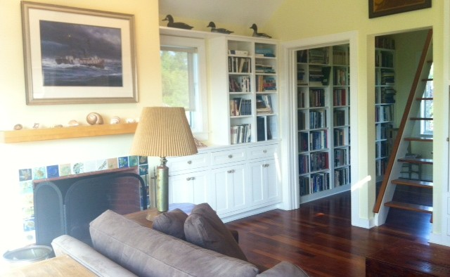 TV Room, Architect Designed Home, Cushing, ME