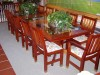 mahogany table chairs